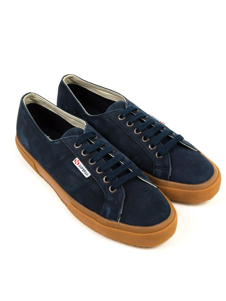 Superga 2750 Navy Nubuck | Men's Shoes - Oliver Spencer x Superga -  Trainers - View