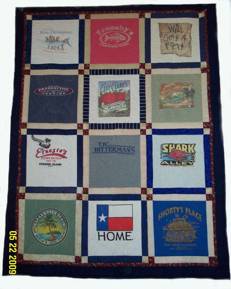 T Shirt Quilting Patterns : t-shirt quilt Quilts Pinterest