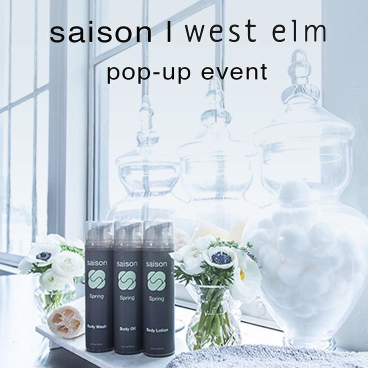 We're so excited to be popping up at @westelm - Bay St. Emeryville. Come visit us and try out our products May 7-8 between 10 am - 7 pm. Plus enjoy 20% OFF all Saison products at the event.  In addition to showcasing the entire line we will have a limited number of our very new body soaps on hand as well as some last minute Mother's Day gift sets. Hope to see you there!