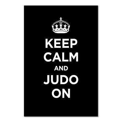 A2+ medium #poster: keep calm judo on #black dark coal ww2 wwii #parody sign,  View more on the LINK: 	http://www.zeppy.io/product/gb/2/391616284078/