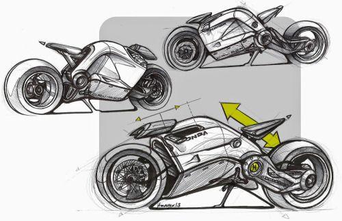 Honda Cruiser? Sketches by Jean-Thomas MAYER.