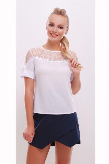 ea4a59c5dd7 Купить белая блузка с кружевом онлайн . Цена  335 грн. glem.com.ua ...