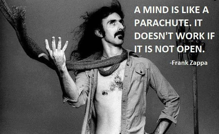 Open mind = parachute