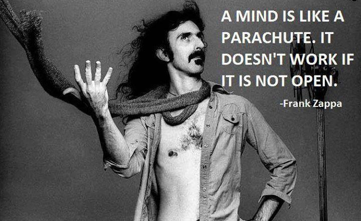 Open mind = parachute