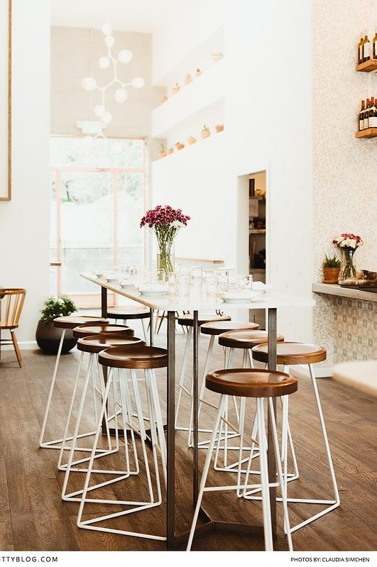 Some of the best coffee shops and eateries in Los Angeles like this beautiful light filled room with white and brown accents and geometric inspirations! https://www.theprettyblog.com/?post_type=travel&p=173190&utm_campaign=coschedule&utm_source=pinterest&utm_medium=The%20Pretty%20Blog&utm_content=The%20Best%20Foodie%20Spots%20in%20Los%20Angeles