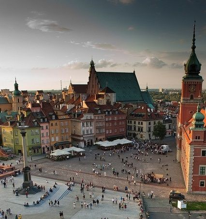 Warsaw, Poland. So happy we're staying here as our base location. Lots to do and it looks beautiful!