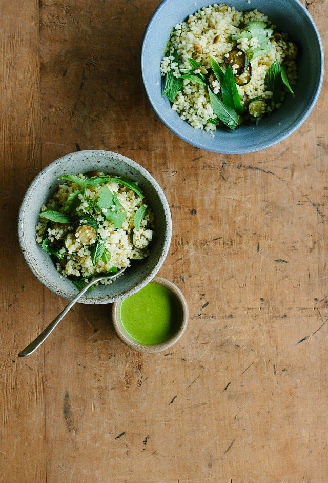 zucchini, millet + mint salad with coriander dressing – My Darling Lemon Thyme