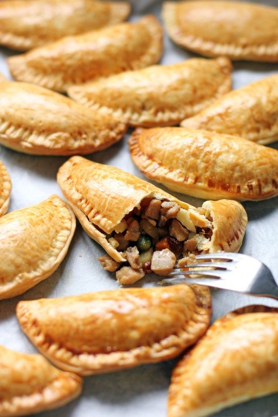 empanadas keep really well outside of the fridge... these would be good to keep in the limo for the wedding party to eat after the ceremony with beer and champagne :)