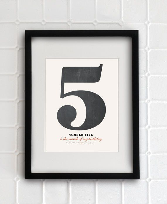 "Pick a number- 8.5""x11"" - Personalized Number Poster art print"