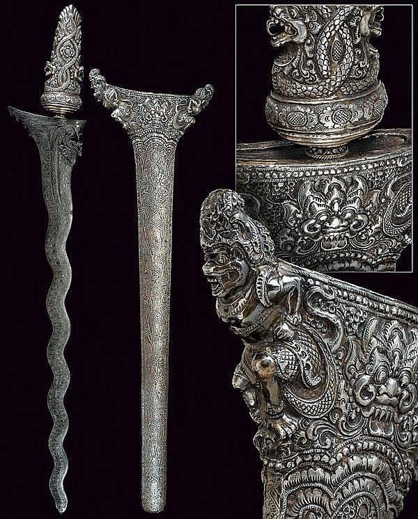 Khris dagger Bali, 19th century.