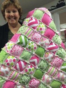 shannonfabrics.com - Missouri Star Cuddle Puffy Rag Quilt