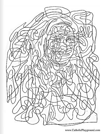 hidden saint therese of lisieux catholic activity page for kids to color feast day of the little flower is october