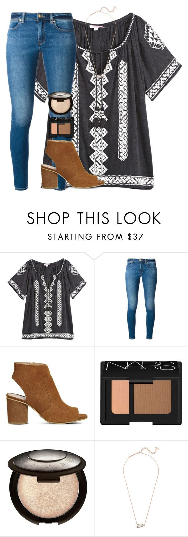 """""""Horrible day:("""" by emmagracejoness ❤ liked on Polyvore featuring Calypso St. Barth, MICHAEL Michael Kors, Office, NARS Cosmetics, Becca and Kendra Scott"""
