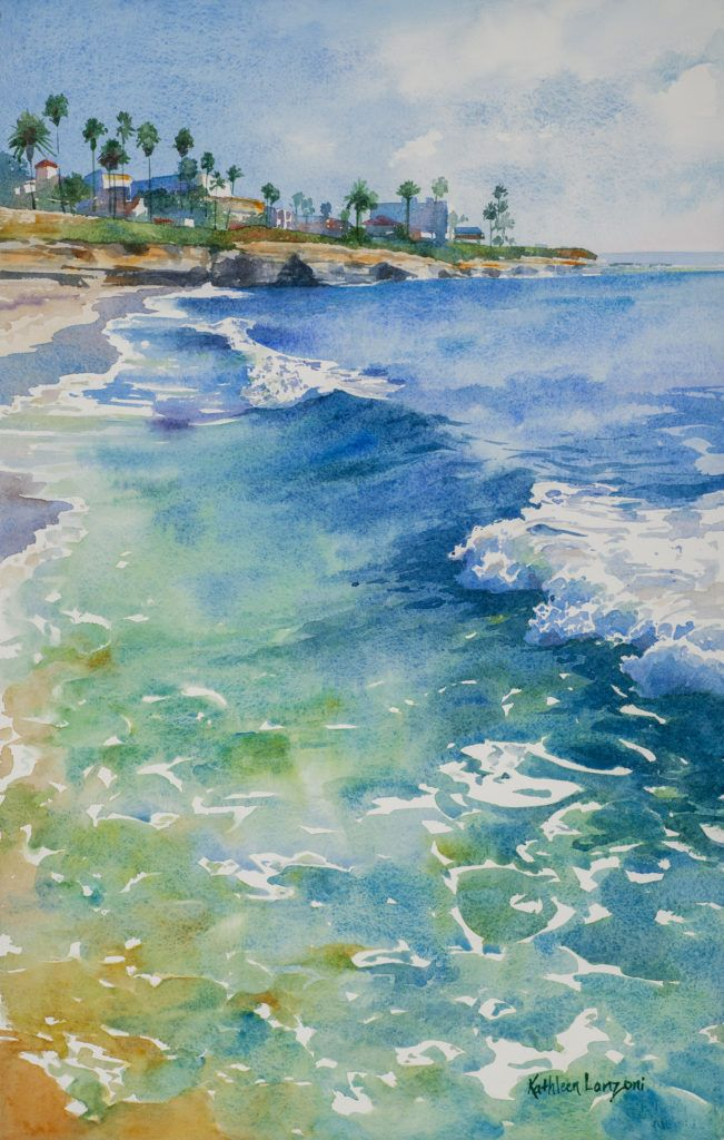 Studio Landscapes Watercolor Ocean Watercolor Landscape
