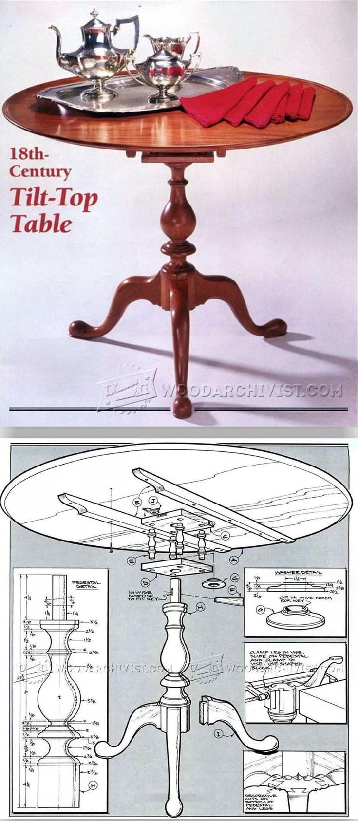 Tilt Top Table Plans - Furniture Plans and Projects | WoodArchivist.com