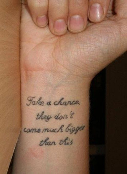 Golden Pictures: wrist tattoo quotes for girls