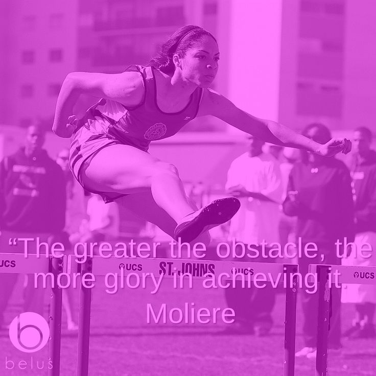 """""""The greater the obstacle, the more glory in achieving it. - Moliere  #Belus #Motivation #Sports #Quotes #BelusActive #jump #hurdle"""