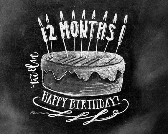 Baby Monthly Chalkboard Baby Milestone Chalkboard by TheWhiteLime