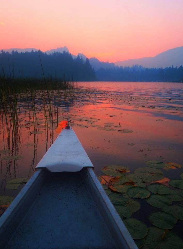 Sunset canoe ride. Marble Bay, Lake Cowichan. Photo by Cheryl Power.