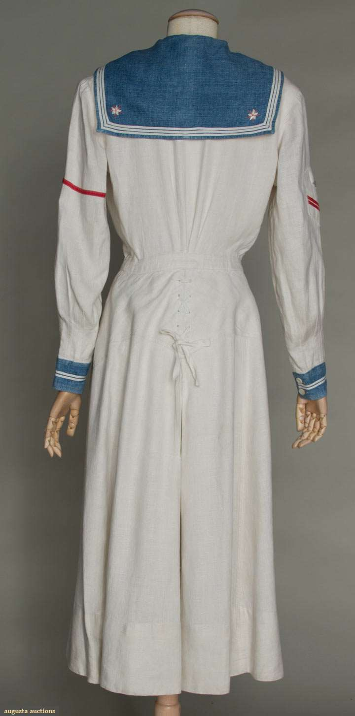 Augusta AuctionsLADY'S WHITE YACHTING DRESS, c. 1915