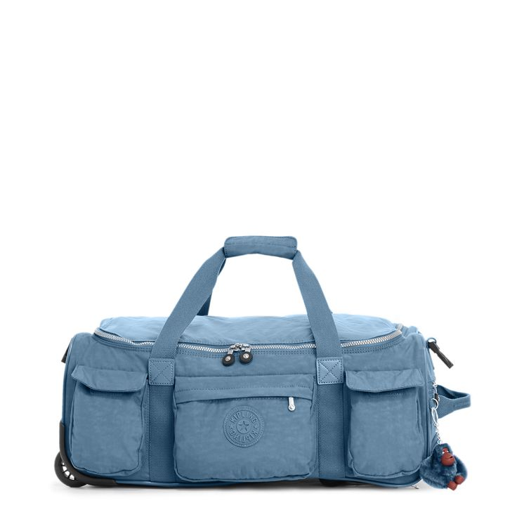 "Carry-on ready! Get on the go with this stunning wheeled duffle bag, featuring a collapsible design and a hidden handle for easy rolling. Inside, a zip pocket, mesh pouches, and luggage straps will keep everything in place. <br><br>Dimensions: 22.5"" L x 9.75"" H x 14.5"" D <br>Weight: 5.14 lbs"