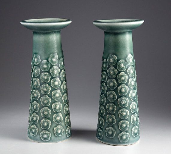 Two rare Candlesticks or Vases  Blue Azur line from by silottesdk