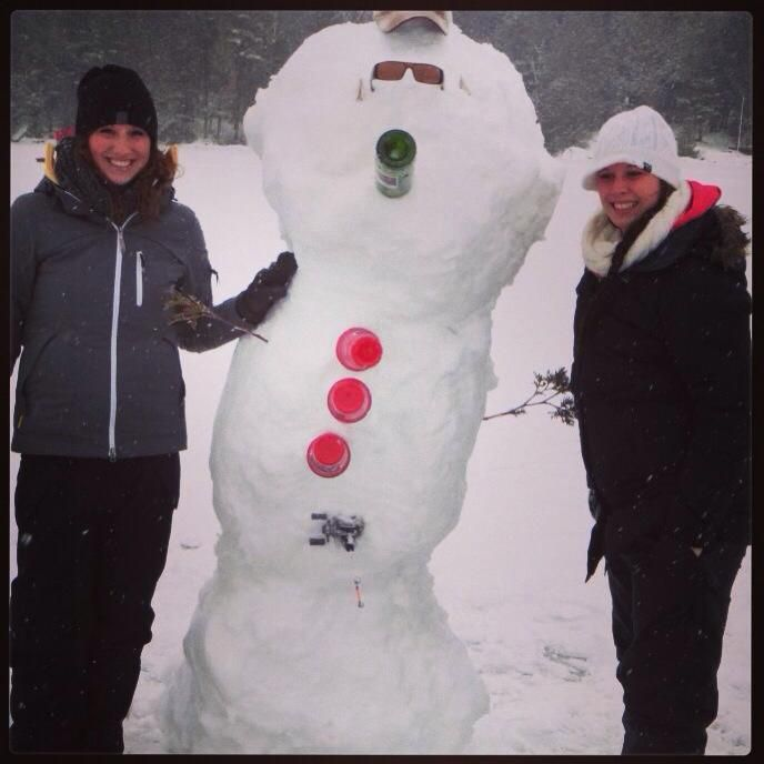 Snowman Fun in Fenelon Falls  (Credit to Discover Play & Stay Photo Contest and Photographer Meag Malley)
