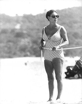Princess Margaret Pictured On A Beach In Her Swimsuit Probably Mustique