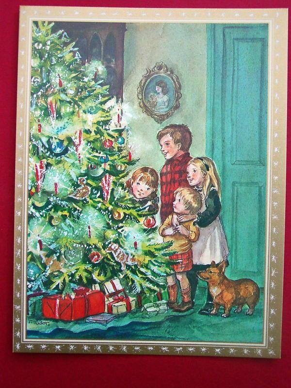 At The Christmas Tree Tasha Tudor Christmas Greeting Card ...