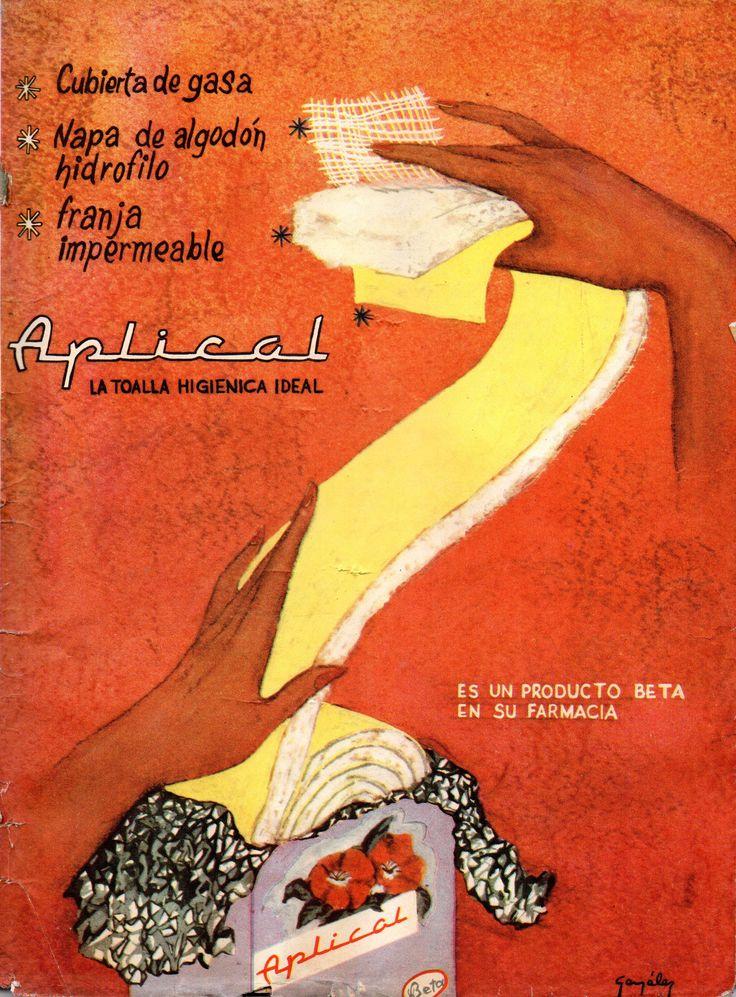 Aplical la toalla higiénica ideal. Publicado en Revista en Zig Zag, 27 de septiembre 1963.
