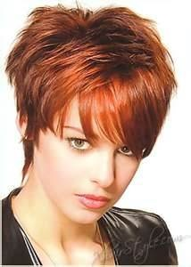 short hair cuts for women - I now have this style only a little longer---and no not red color.  Could do the long hair any longer.