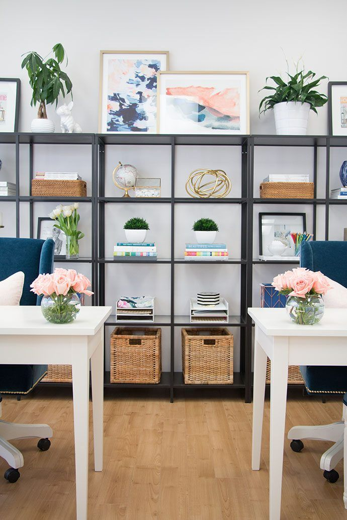 How To Style Your Office Shelves Home Office Design Office