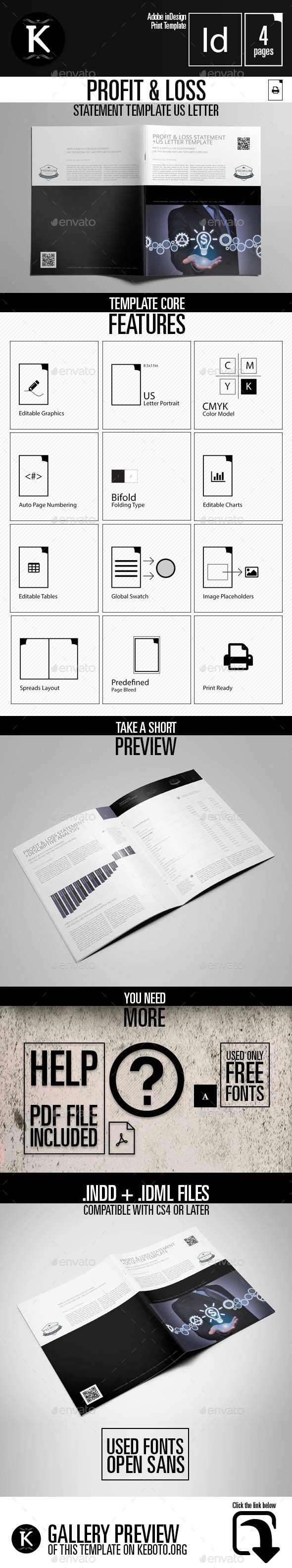 Generic Profit And Loss Statement 70 Best Templates Images On Pinterest  Patterns Branding Design .