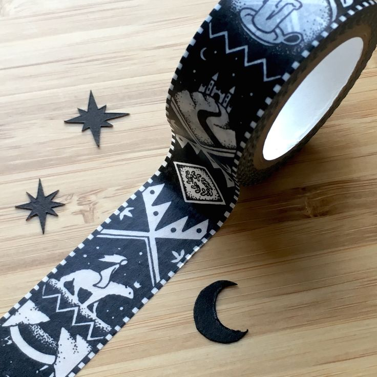 valemon washi tape - tells the tale of the white bear king valemon, a norwegian folktale