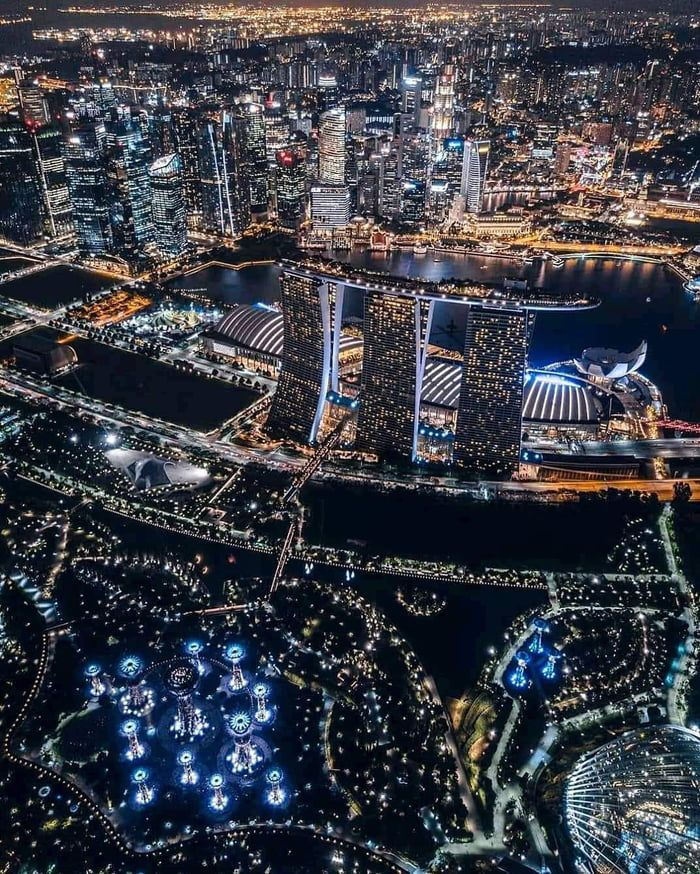 Singapore S Night Time Skyline Singapore Travel Singapore City Asia Travel