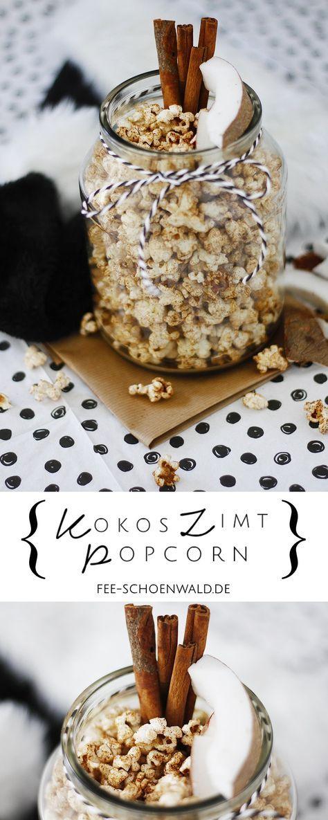 Kokos Zimt Popcorn Rezept Weihnachten - Ein gesunder süßer Snack ...