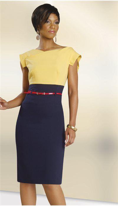 Pencil Skirt Suit Church Dress With Belt