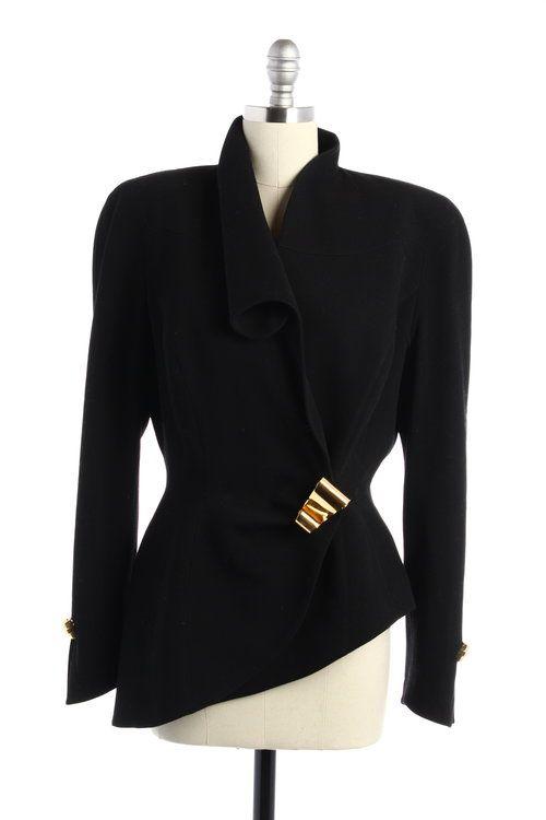 Thierry Mugler Black Architectural Jacket  - $330