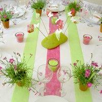 décoration de table thème printemps