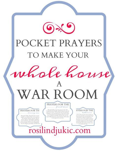 Download this set of pocket prayers to make your whole house a war room as you clean your house each day.