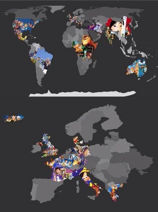 Map of disney movies