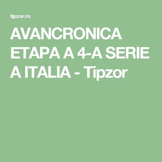 AVANCRONICA ETAPA A 4-A SERIE A ITALIA - Tipzor