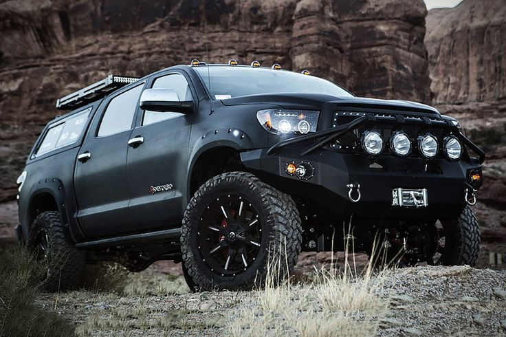Devolro Diablo Toyota Tundra Expedition Truck is big and bad and beautiful.  Love the styling and flat black paint.  And did I mention 500+ HP?