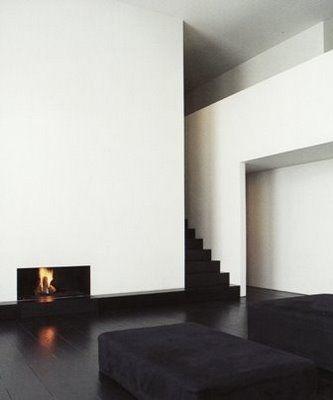 Minimalist fireplace.