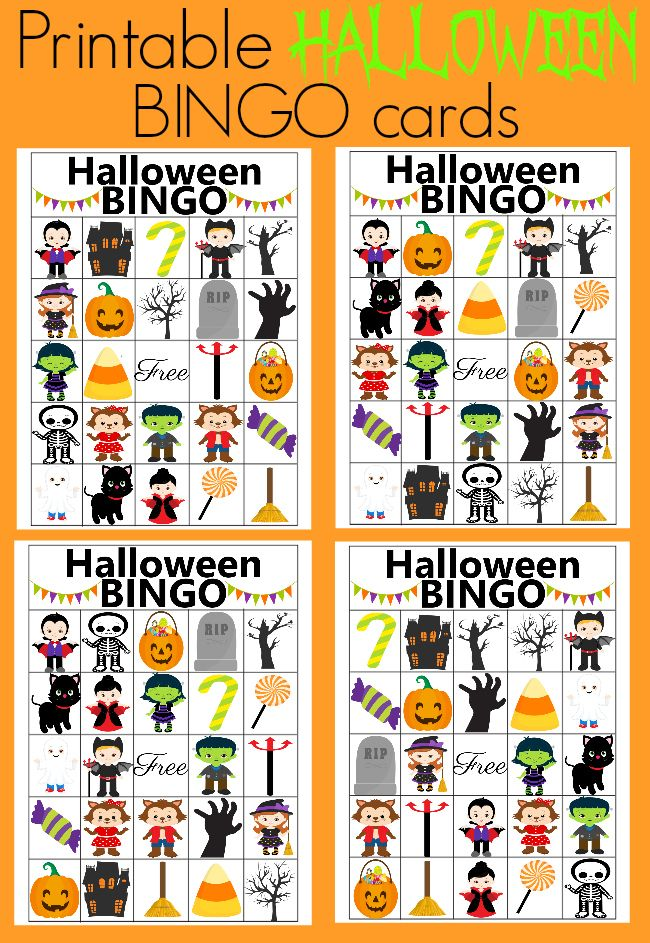 free printable halloween bingo cards in 2020 Halloween