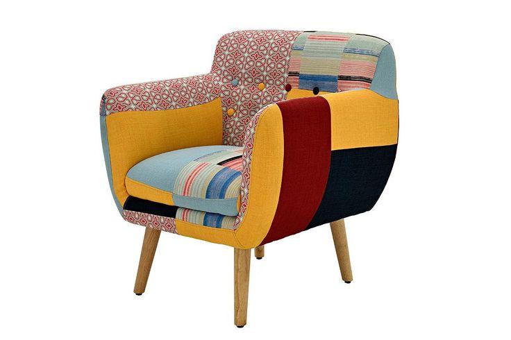 Πολυθρόνα υφασμάτινη πολύχρωμη