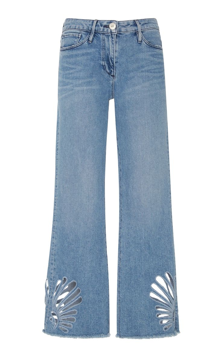 Freeja High-Rise Bootcut Jeans by 3X1 Now Available on Moda Operandi