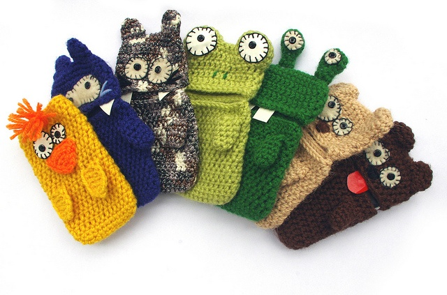 Phone cases wool plush by Coco_Flower, via Flickr