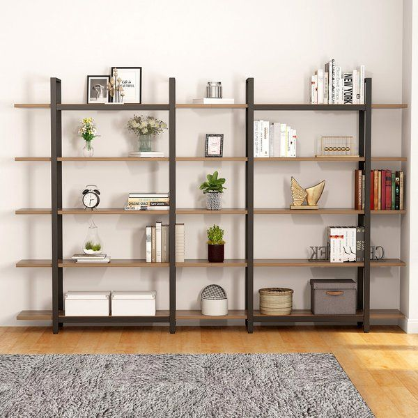 Pirtle Etagere Bookcase Etagere Bookcase Vintage Industrial Style