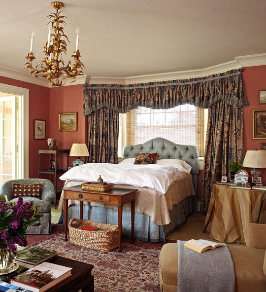 traditional bedroom colors lots of color and pattern but still soothing somehow 13562